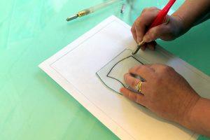 Glass cutting - Cariad Glass