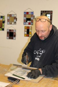 Chris Dodd - stained glass workshop - Cariad Glass