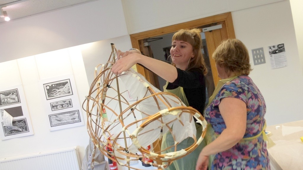 Making willow lanterns-The Lab-Cheerful project-Haverfordwest