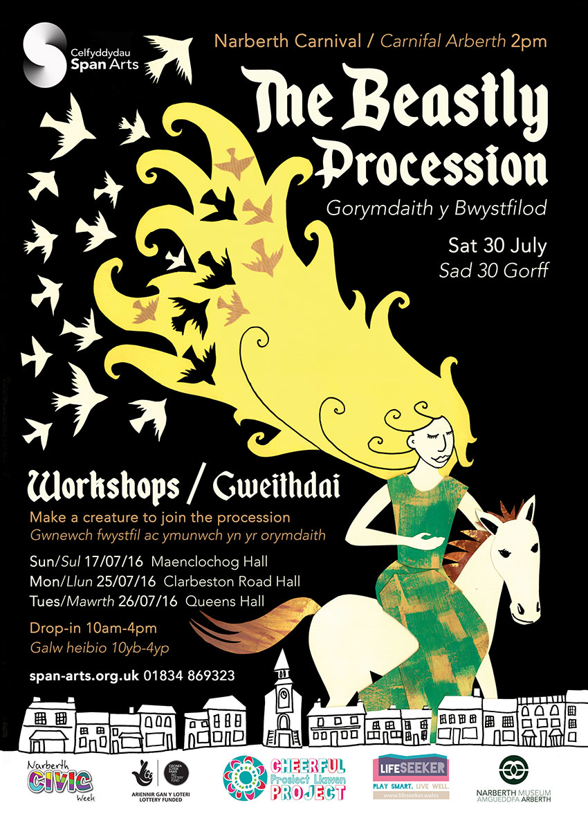 Cheerful Project-Mabinogion Workshops Poster-Pembrokeshire