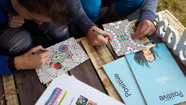 Mindful colouring - The Big Retreat Wales
