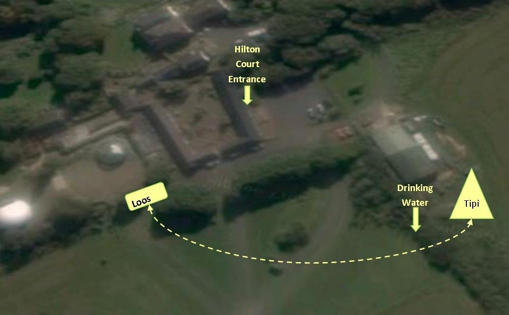 Map of tipi facilities